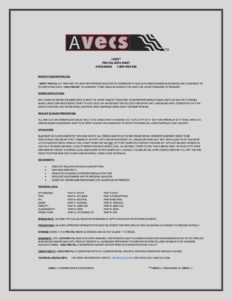 AVECS PRO-FILL DATA SHEET