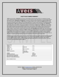 AVECS RE-ACT WARRANTY